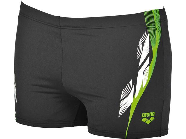 arena Fingerprint Swim Shorts Men black-leaf
